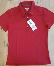 Ashworth Ladies Golf polo shirt red sz small