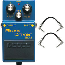 Boss BD-2 Blues Driver Guitar Effects Pedal Stompbox Footswitch + Cables