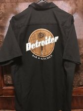 The Detroiter Bar Detroit Mi ~ Mens Lrg S/Sl Red Kap Beer Delivery Work Shirt