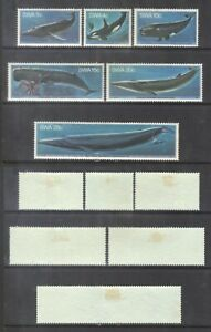 South West Africa 1980 Whales-set.SG.338-43.