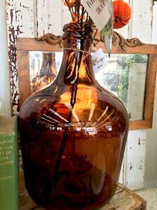 Brown Glass Demijohn