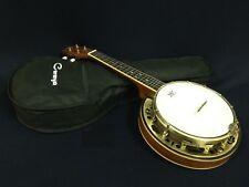 Caraya Concert Size,Flame Maple Resonator Banjo Ukulele,Banjolele+Bag SBJUK-118