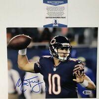 Autographed/Signed MITCHELL TRUBISKY Chicago Bears 8x10 Football Photo BAS COA