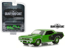 GRAVEYARD CARZ 1971 Plymouth Cuda Hemi Diecast Car 1:64 Greenlight 3 inch Green