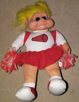 "VINTAGE 1991 TROLL DOLL Cheerleader BIG 11"" TALL"