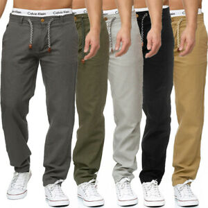 INDICODE Leinenhose Chino Hose Cargo Jeans Stoffhose Leichte Sommer Pants Herren