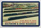 1 playing (swap) card - USA - Baltimore & Ohio Railroad [3222]