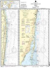 NOAA Chart 39th Edition Jupiter Inlet to Fowey Rocks; Lake Worth Inlet 11466