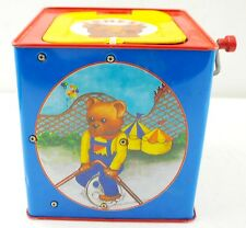 Vintage 1993 Schylling Bear Jack In The Box