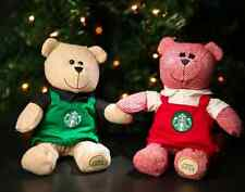 2 Starbucks Bearista Bears Green Apron Red Apron 2016 Limited Edition
