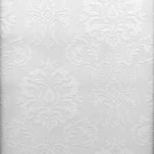 Easy Textures Damask Paintable Wallpaper by Brewster   P32808/FD32808