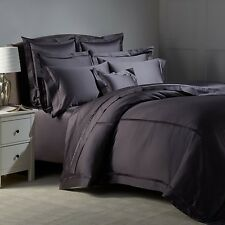 $740+tax Matouk Nocturne Sateen 3 Euro 1 Standard Shams Set Charcoal Grey Italy