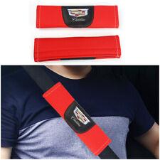 2Pcs Red Color High Quality Car Seat Belt Shoulder Cushion Cover Pad