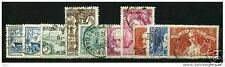 FRANCE STAMP ANNEE COMPLETE 1935 : 10 TIMBRES OBLITERES TB