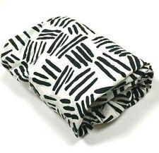Pottery Barn Modern Baby Black White Crib Sheet Printed Organic Cotton Nursery