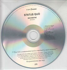 STATUS QUO Backbone 2019 UK 11-trk promo test CD