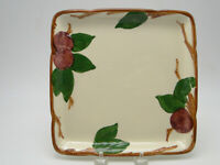 Franciscan USA Apple Pottery 8¼in Square Microwave Tray black 1978 mark