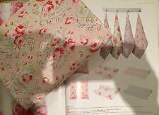Vintage Cath Kidston PINK ROSE PAISLEY Cotton Fabric RARE!