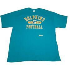 Gildan Miami Dolphins T Shirt Unisex Size L Green Graphic Tee Classic Logo SI