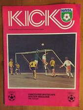 VANCOUVER WHITECAPS VS. MANCHESTER UNITED FC 1976 SOCCER PROGRAM