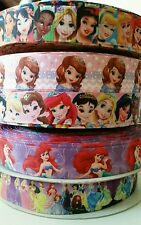 lot of 10 yds printed grosgrain ribbon character ribbon Assorted princess sofia