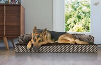 FurHaven Pet Cooling, Orthopedic, Memory Foam Comfy Couch Sofa-Style Dog Bed