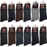 6-12 Pairs Mens Cotton Work Crew Fashion Casual Dress Socks Size 10-13 347-5L