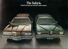 Pontiac Safari 1973 USA Market Foldout Sales Brochure LeMans Grand