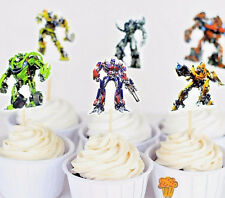 24pcs Transformers Cupcake Cake Toppers Decoration Kids Boys Birthday Party