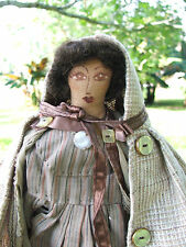 Victorian Style Wearing A Cape Rag Doll ArTiST SiGneD