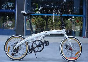 "20"" ultra light aluminum alloy shimano 7 speeds folding bike disc brakes(11kg)"
