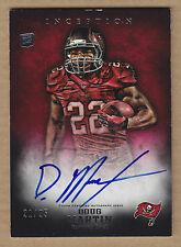 12 2012 Topps Inception RED Doug Martin Auto RC Autograph Rookie Card #'d /25