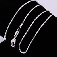 """Wholesale 925 Sterling Silver Filled 1MM Chain Necklace For Pendants 18"""" 20"""" 22"""""""