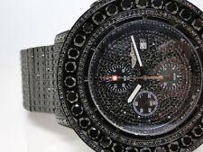 Custom Iced 52 Ct Mens New Breitling Super Avenger Black Diamond Watch