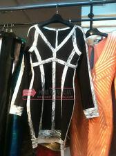 2013 New Long Sleeve  Bandage Bodycon Cocktail Dress Color Black XS S M L