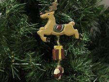 Rustic Rudolf the Reindeer Christmas Ornament, Wooden