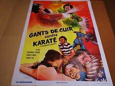 GANTS DE CUIR CONTRE KARATE Shanghai Boxer ! affiche cinema karate kung-fu 1974