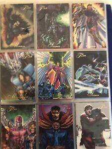 67 random comic cards, Marvel Batman spiderman Disney star trek sleeves included