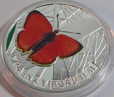 NIUE ISLAND $1 2010 BUTTERFLIES Lycaena Virgaureae SILVER PROOF
