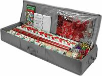 """Wrapping paper storage organizer bag - Fits up to 40"""" gift wrap Rolls"""