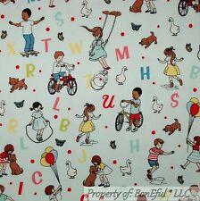 BonEful Fabric FQ Flannel Cotton Quilt Baby Girl Boy S Bike Alphabet Cat Dog Dot