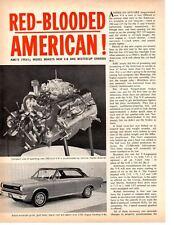 1966 AMC ROUGE / TYPHOON V-8 ~ ORIGINAL 4-PAGE ARTICLE / AD