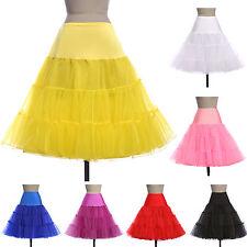 50's VINTAGE STYLE PETTICOAT FANCY DRESS SKIRT TUTU Tea Length Girls Underskirt