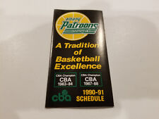 Albany Patroons 1990/91 CBA Basketball Pocket Schedule - New York's Lottery