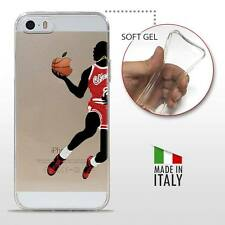 iPhone 5 5S SE TPU COVER PROTETTIVA GEL TRASPARENTE NBA Basket Michael Jordan