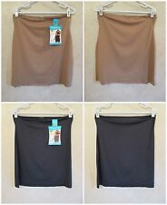 LOT 2 SHAPERCISE 2XL 16-18 Brown Black Cool Smoothing Light Control Half Slips