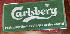 Carlsberg Lager Beer Woven Cloth Bar Room 20x 8 Towel