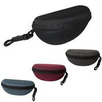 Nylon Semi-Hard Zipper Eyewear Case w/Clip+Belt Loop Sunglass Sunnies Eye Glass
