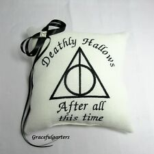 Harry Potter Deathly Hallows Aftger all this time wedding ring cushion/pillow.