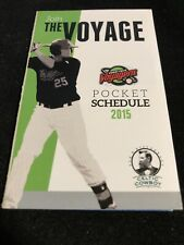 2015 Great Falls Voyagers Baseball Pocket Schedule White Sox Farm Team
